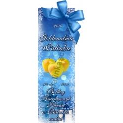"""Golden alma karácsonyi pálinka címke - """"Xmas blue"""""""