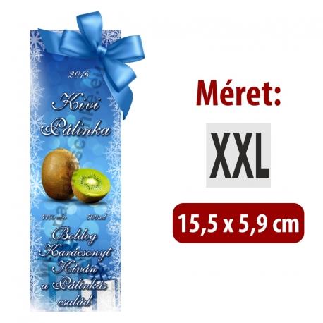 """Kivi karácsonyi pálinka címke - """"Xmas blue"""""""