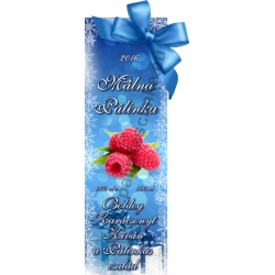 "Málna karácsonyi pálinka címke - ""Xmas blue"""