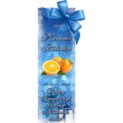 """Narancs karácsonyi pálinka címke - """"Xmas blue"""""""