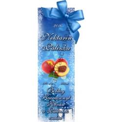 """Nektarin karácsonyi pálinka címke - """"Xmas blue"""""""