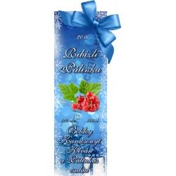 """Ribizli karácsonyi pálinka címke - """"Xmas blue"""""""