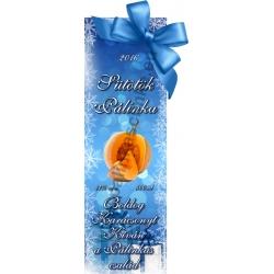 "Sütőtök karácsonyi pálinka címke - ""Xmas blue"""