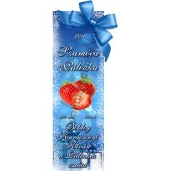 """Szamóca karácsonyi pálinka címke - """"Xmas blue"""""""