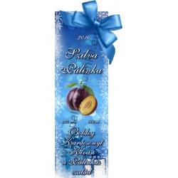 """Szilva karácsonyi pálinka címke - """"Xmas blue"""""""