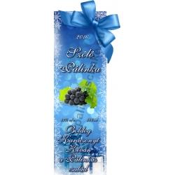 """Szőlő kék karácsonyi pálinka címke - """"Xmas blue"""""""