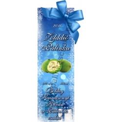"""Zöld dió karácsonyi pálinka címke - """"Xmas blue"""""""