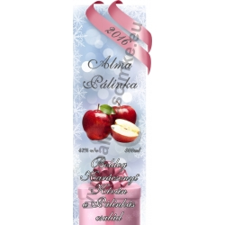 "Alma karácsonyi pálinka címke - ""Xmas Cold"""