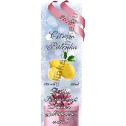 """Citrom karácsonyi pálinka címke - """"Xmas Cold"""""""