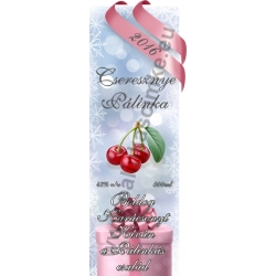 """Cseresznye karácsonyi pálinka címke - """"Xmas Cold"""""""