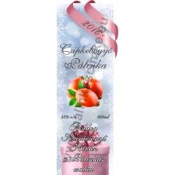 """Csipkebogyó karácsonyi pálinka címke - """"Xmas Cold"""""""