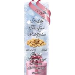 """Faeper fehér karácsonyi pálinka címke - """"Xmas Cold"""""""