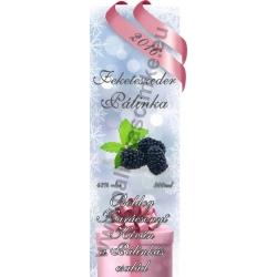 """Fekete szeder karácsonyi pálinka címke - """"Xmas Cold"""""""