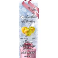"""Golden alma karácsonyi pálinka címke - """"Xmas Cold"""""""