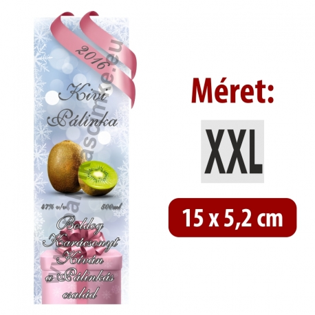 "Kivi karácsonyi pálinka címke - ""Xmas Cold"""