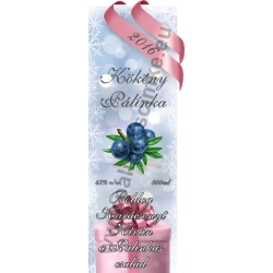 "Kökény karácsonyi pálinka címke - ""Xmas Cold"""