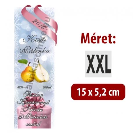 """Körte karácsonyi pálinka címke - """"Xmas Cold"""""""