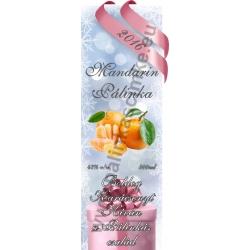 """Mandarin karácsonyi pálinka címke - """"Xmas Cold"""""""
