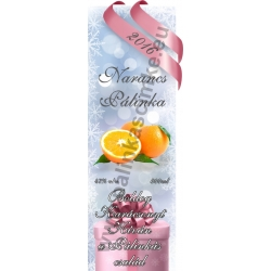 "Narancs karácsonyi pálinka címke - ""Xmas Cold"""