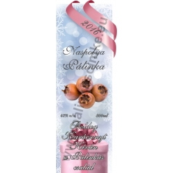 """Naspolya karácsonyi pálinka címke - """"Xmas Cold"""""""