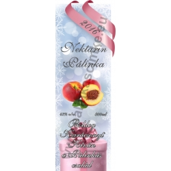 "Nektarin karácsonyi pálinka címke - ""Xmas Cold"""