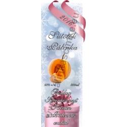 """Sütőtök karácsonyi pálinka címke - """"Xmas Cold"""""""