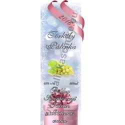 """Törköly fehér karácsonyi pálinka címke - """"Xmas Cold"""""""