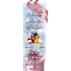 """Vegyes gyümölcs karácsonyi pálinka címke - """"Xmas Cold"""""""