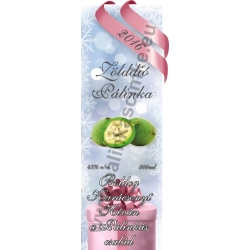 "Zöld dió karácsonyi pálinka címke - ""Xmas Cold"""