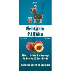 """Nektarin karácsonyi pálinka címke - """"Christmas deer"""""""