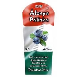 """Áfonya pálinka címke - """"TRICOLOR"""""""
