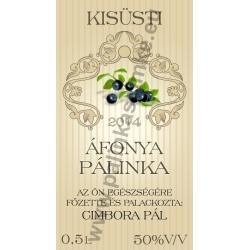 """Áfonya pálinkás címke - """"traditional"""""""