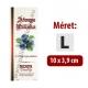 """Áfonya pálinkás címke - Kézzel írható - """"manuscript"""""""