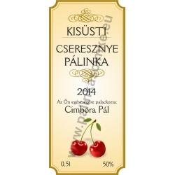 """Cseresznye pálinkás címke - """"charming"""""""