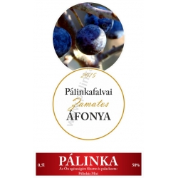 """Áfonya pálinka címke szett - 2 részes - """"CIRCULAR"""""""