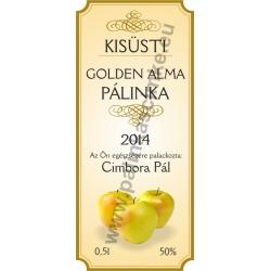 """Goldenalma pálinkás címke - """"charming"""""""