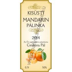 """Mandarin pálinkás címke - """"charming"""""""