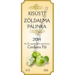 """Zöld alma pálinkás címke - """"charming"""""""