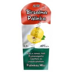 """Birsalma pálinka címke - """"TRICOLOR"""""""