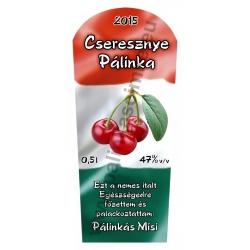 "Cseresznye pálinka címke - ""TRICOLOR"""