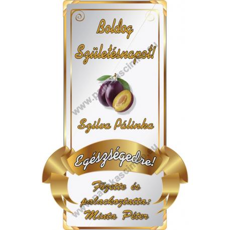 Születésnapi pálinkás címke - Gold