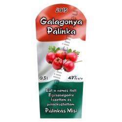 """Galagonya pálinka címke - """"TRICOLOR"""""""