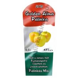 """Golden alma pálinka címke - """"TRICOLOR"""""""