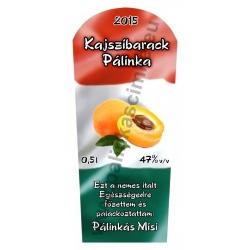 """Kajszibarack pálinka címke - """"TRICOLOR"""""""