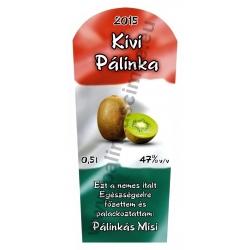 """Kivi pálinka címke - """"TRICOLOR"""""""