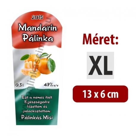 """Mandarin pálinka címke - """"TRICOLOR"""""""