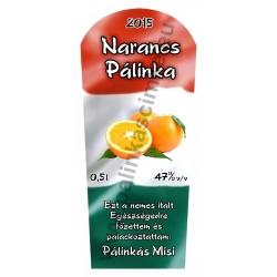 """Narancs pálinka címke - """"TRICOLOR"""""""