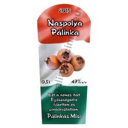 """Naspolya pálinka címke - """"TRICOLOR"""""""
