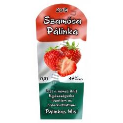 """Szamóca pálinka címke - """"TRICOLOR"""""""