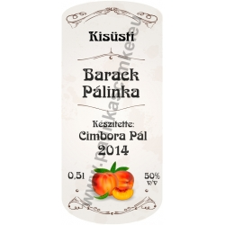 """Barack pálinkás címke - """"retro"""""""